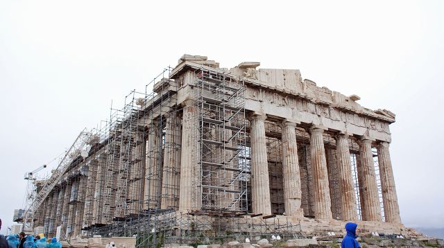 Restoration of the Parthenon in 2010