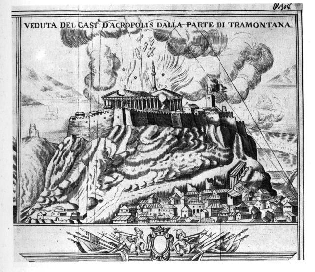 The Explosion of the Gunpowder Magazine in the Parthenon.